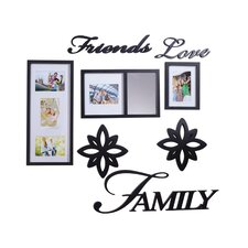 8 Piece Friends Love Family Decorator Picture Frame Set