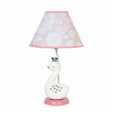 "Swan Lake 11"" H Table Lamp with Empire Shade"