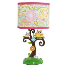 """Happi Tree By Dena 18"""" H Table Lamp with Drum Shade"""