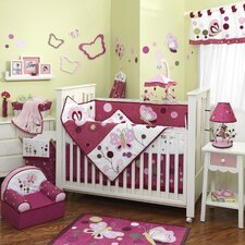 Raspberry Swirl Crib Bedding Collection