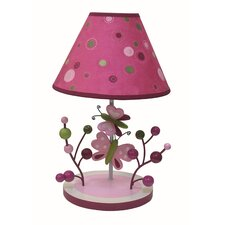 Raspberry Swirl Lamp with Shade