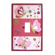 <strong>Lambs & Ivy</strong> Raspberry Swirl Switch Plate Cover