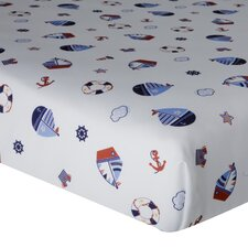 <strong>Lambs & Ivy</strong> Sail Away Fitted Crib Sheet