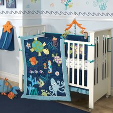 Bubbles and Squirt 5 Piece Crib Bedding Set