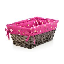<strong>Lambs & Ivy</strong> Raspberry Swirl Basket with Liner
