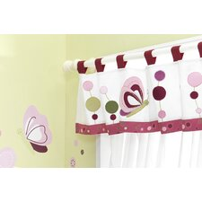Raspberry Swirl Tab Top Tailored Curtain Valance