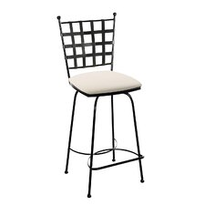 "<strong>Charleston Forge</strong> Etrusche 26"" Bar Stool with Cushion"