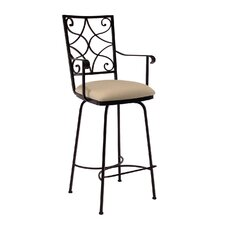"<strong>Charleston Forge</strong> Camino 30"" Swivel Bar Stool with Cushion"