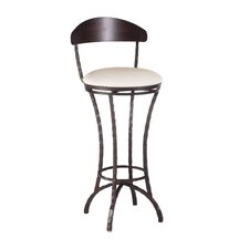 "<strong>Charleston Forge</strong> Hudson 30"" Swivel Bar Stool with Cushion"