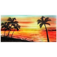 <strong>Pure Art</strong> Tropical Sunset Handmade Aluminum
