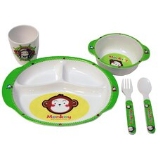 Children's Monkey 5 Piece Dinner Set