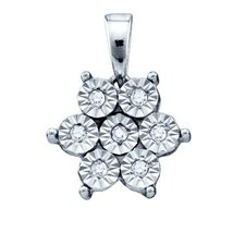 Sterling Silver Diamond Fashion Pendant