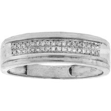 <strong>Goldia</strong> 925 Sterling Silver Micro-Pave Diamond Ring