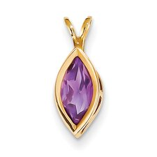 14k Yellow Gold Gemstone Pendant