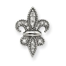 <strong>Goldia</strong> 14k White Gold Fleur De Lis Diamond Pendant