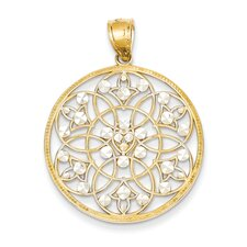 <strong>Goldia</strong> 14k Yellow Gold Diamond Cut Pendant