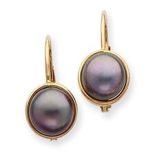 <strong>Goldia</strong> 14K Cultured Pearl Drop Earrings