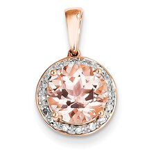 14k Rose Gold Morganite Pendant