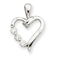 <strong>Goldia</strong> 14k White Gold Heart Pendant Mounting