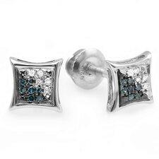 Men's Hip Hop Round Cut Diamond Stud Earrings