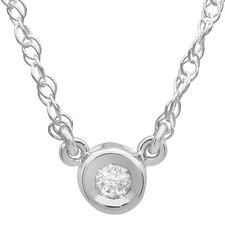 <strong>Dazzling Rock</strong> 14K White Gold Diamond Pendant