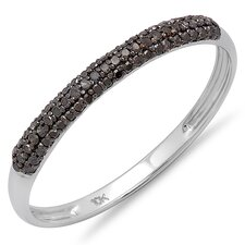<strong>Dazzling Rock</strong> 10K Gold Round Cut Diamond Anniversary Wedding Band