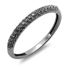 <strong>Dazzling Rock</strong> 14K Gold Round Cut Diamond Anniversary Wedding Band