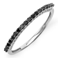 <strong>Dazzling Rock</strong> Sterling Silver Round Cut Diamond Anniversary Wedding Band