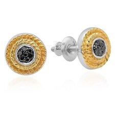 Fancy Round Cut Diamond Cluster Stud Earrings