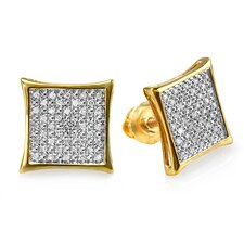 <strong>Dazzling Rock</strong> Round Cut Diamond Stud Earrings