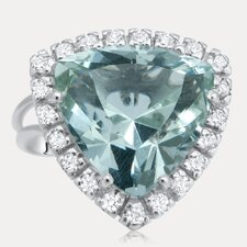 Grand Duchess Sterling Silver Trillion Cut Gemstone Ring
