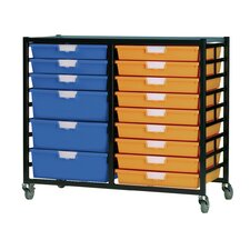 18 Tray Mobile Metal Rack