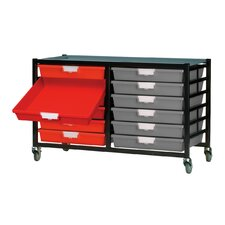 12 Tray Mobile Metal Extra Wide Rack