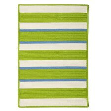Republic Lime Striped Indoor/Outdoor Rug