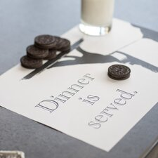 <strong>Plat Du Jour</strong> Dinner is Served Placemat (Set of 50)