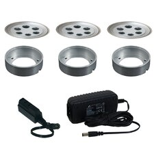 3 Light Fixed Round Slim Disk Kit