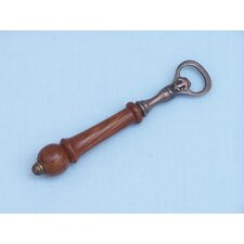 "6"" Antique Copper and Wood Anchor Bottle Opener"