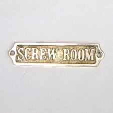 <strong>Handcrafted Model Ships</strong> Screw Room Sign Wall Décor