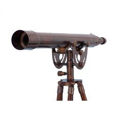 Floor Standing Antique Copper Anchormaster Telescope