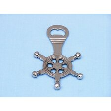 "5"" Chrome Ship Wheel Bottle Opener"