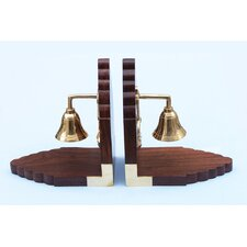 <strong>Handcrafted Model Ships</strong> Bell Book Ends (Set of 2)