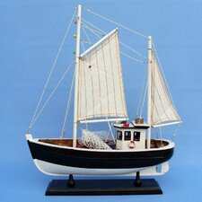 <strong>Handcrafted Model Ships</strong> Keel Over Fishing Model Boat