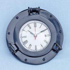"<strong>Handcrafted Model Ships</strong> 8 "" Deluxe Class Porthole Wall Clock"