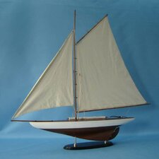 America's Cup Sailing Model Ship