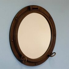 "<strong>Handcrafted Model Ships</strong> 24"" H x 24"" W Porthole Mirror"