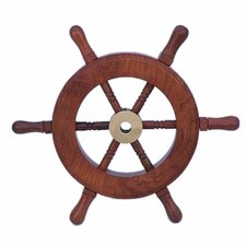 Deluxe Class Ship Wheel Wall Décor