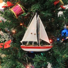USA Christmas Tree Ornament Sailboat