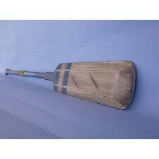 <strong>Handcrafted Model Ships</strong> Wooden Rustic Lake Squared Oar Wall Decor with Hooks