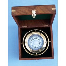 <strong>Handcrafted Model Ships</strong> Gimbal Compass with Rosewood Box
