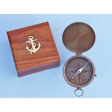 <strong>Handcrafted Model Ships</strong> Gentlemen's Compass with Rosewood Box
